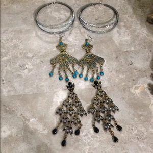 Bebe 3 pairs earrings